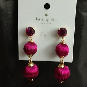 KATE SPADE FUSCHIA GEM DROP EARRINGS BRAND NWT!!